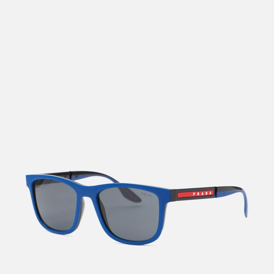 Солнцезащитные очки Prada Linea Rossa 04XS-02S06F-3N Navy Rubber/Black/Dark Grey