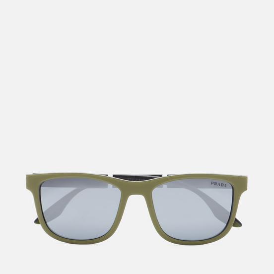 Солнцезащитные очки Prada Linea Rossa 04XS-03S0D3-3N Military Rubber/Dark Grey/Light Grey Mirror Black