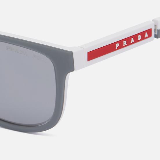 Солнцезащитные очки Prada Linea Rossa 04XS-04S04L-3P Polarized Grey Rubber/White/Polar Grey/Mirror Silver