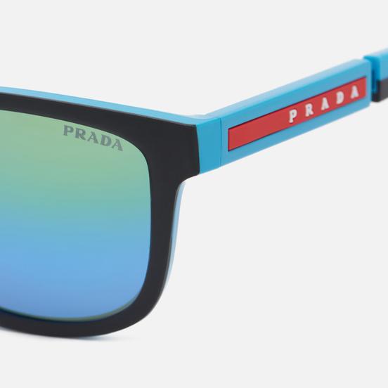 Солнцезащитные очки Prada Linea Rossa 04XS-05S05L-3N Black Rubber/Turquoise/Green Mirror Blue Grad Green