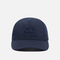 Кепка C.P. Company Gabardine Embroidered Logo Baseball Total Eclipse