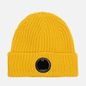 Шапка C.P. Company Extrafine Merino Wool Lens Mineral Yellow фото - 0