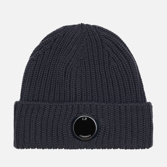 Шапка C.P. Company Extrafine Merino Wool Lens Dark Fog Grey