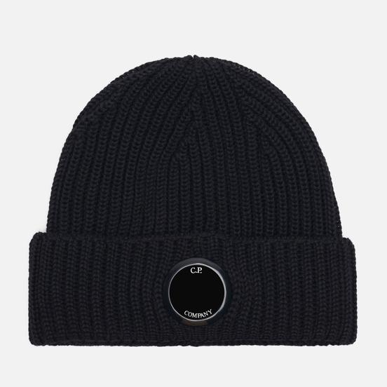 Шапка C.P. Company Extrafine Merino Wool Lens Black