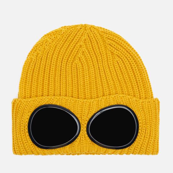 Шапка C.P. Company Extrafine Merino Wool Goggle Mineral Yellow