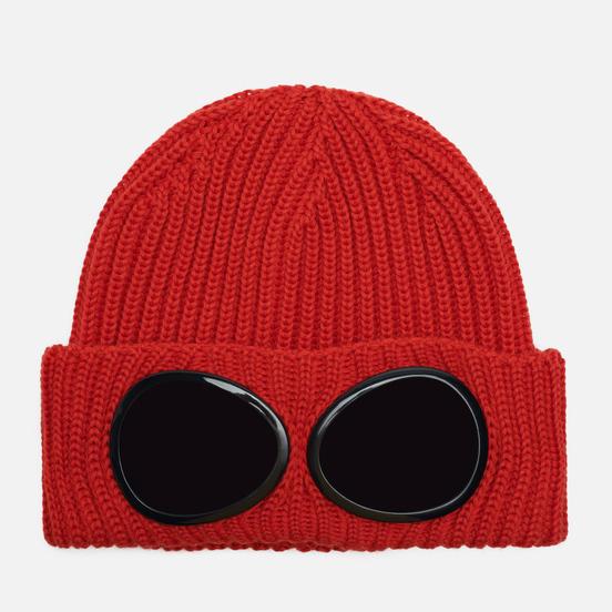 Шапка C.P. Company Extrafine Merino Wool Goggle Pompeian Red