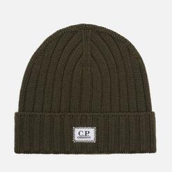 Шапка C.P. Company Extrafine Merino Wool Logo Rosin