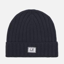 Шапка C.P. Company Extrafine Merino Wool Logo Dark Fog Grey
