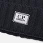 Шапка C.P. Company Extrafine Merino Wool Logo Dark Fog Grey фото - 1