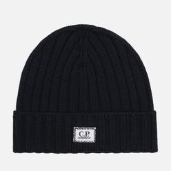 Шапка C.P. Company Extrafine Merino Wool Logo Black