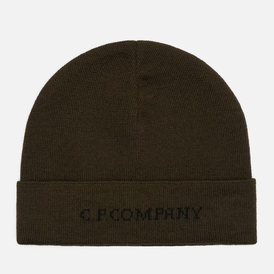 Шапка C.P. Company Merino Wool Jacquard Rosin