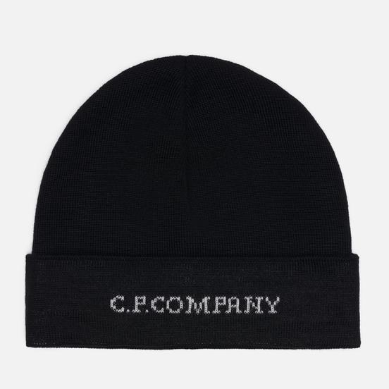 Шапка C.P. Company Merino Wool Jacquard Black