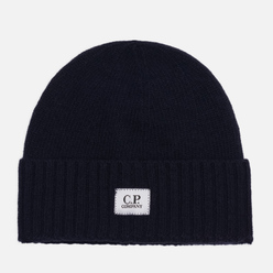Шапка C.P. Company Lambswool Logo Total Eclipse