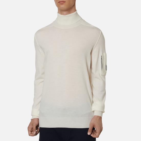 Мужской свитер C.P. Company Turtle Neck Merino Wool Gauze White