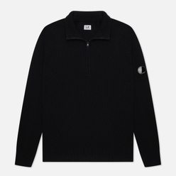 Мужской свитер C.P. Company 1/4 Zip Lambswool Black