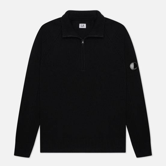 Мужской свитер C.P. Company 1/4 Zip Lambswool Black