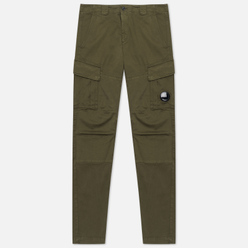 Мужские брюки C.P. Company Lens Pocket Garment Dyed Stretch Sateen Ergonomic Fit Ivy Green