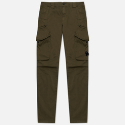 Мужские брюки C.P. Company Garment Dyed Stretch Sateen Lens Pocket Cargo Ivy Green