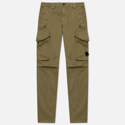 Мужские брюки C.P. Company Garment Dyed Stretch Sateen Lens Pocket Cargo Martini Olive