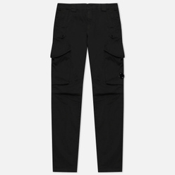 Мужские брюки C.P. Company Garment Dyed Stretch Sateen Lens Pocket Cargo Black