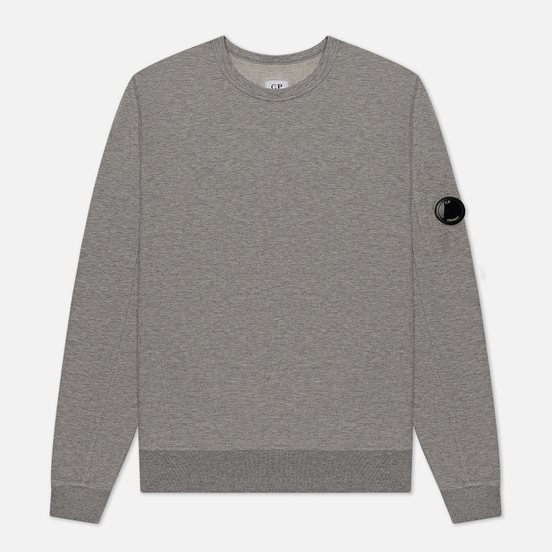 Мужская толстовка C.P. Company Pocket Lens Garment Dyed Light Feece Grey Melange