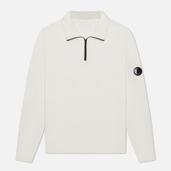 Мужская толстовка C.P. Company Pocket Lens Half-Zip Light Feece Gauze White