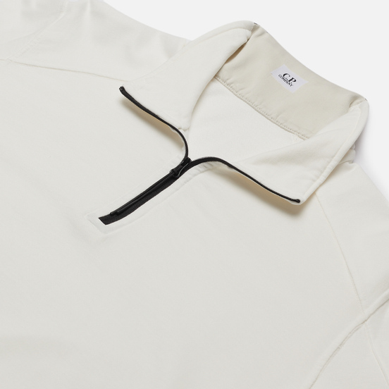Мужская толстовка C.P. Company Pocket Lens Half-Zip Light Feece Gauze White