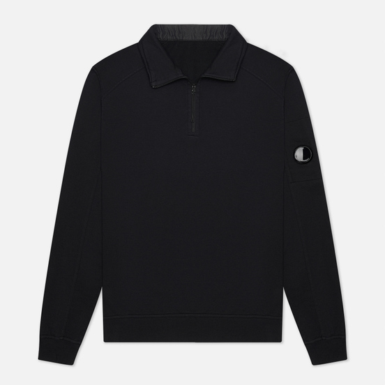 Мужская толстовка C.P. Company Pocket Lens Half-Zip Light Feece Black