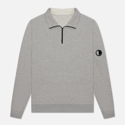 Мужская толстовка C.P. Company Pocket Lens Half-Zip Light Feece Grey Melange