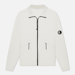 Мужская толстовка C.P. Company Pocket Lens Full-Zip Light Feece Gauze White