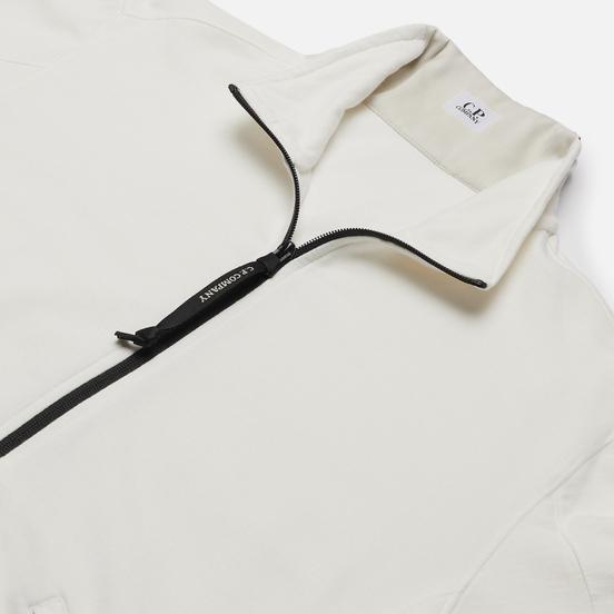 Мужская толстовка C.P. Company Pocket Lens Full-Zip Light Feece Gauze White