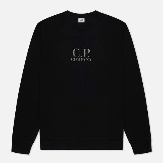 Мужская толстовка C.P. Company Diagonal Raised Fleece Logo Black