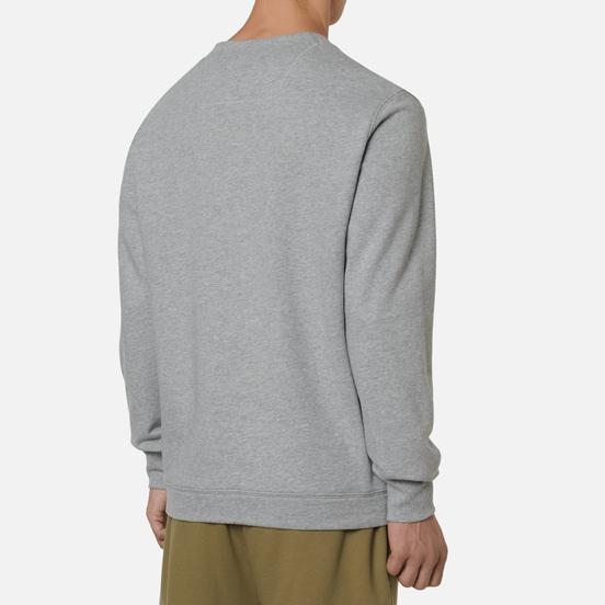 Мужская толстовка C.P. Company Diagonal Raised Fleece Logo Grey Melange