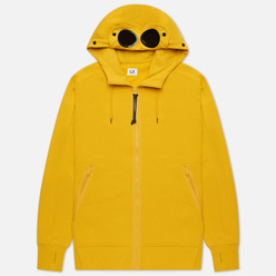 Мужская толстовка C.P. Company Goggle Full Zip Hoodie Diagonal Raised Fleece Golden Yellow