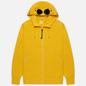 Мужская толстовка C.P. Company Goggle Full Zip Hoodie Diagonal Raised Fleece Golden Yellow фото - 0