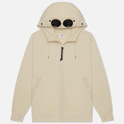 Мужская толстовка C.P. Company Goggle Full Zip Hoodie Diagonal Raised Fleece Oyster Grey