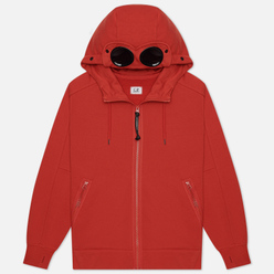 Мужская толстовка C.P. Company Goggle Full Zip Hoodie Diagonal Raised Fleece Pompeian Red