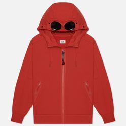 Мужская толстовка C.P. Company Goggle Full Zip Hoodie Diagonal Raised Fleece Pompeian Red