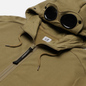Мужская толстовка C.P. Company Goggle Full Zip Hoodie Diagonal Raised Fleece Martini Olive фото - 1
