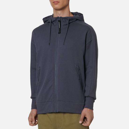 Мужская толстовка C.P. Company Goggle Full Zip Hoodie Diagonal Raised Fleece Ombre Blue