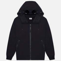 Мужская толстовка C.P. Company Goggle Full Zip Hoodie Diagonal Raised Fleece Total Eclipse