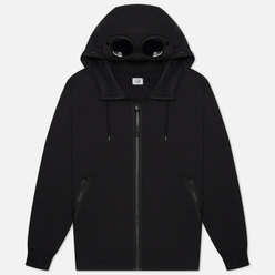 Мужская толстовка C.P. Company Goggle Full Zip Hoodie Diagonal Raised Fleece Black