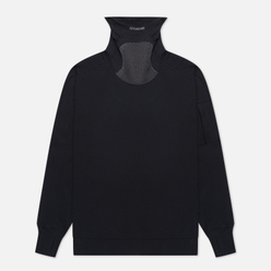 Мужская толстовка C.P. Company Roll Neck Diagonal Raised Fleece Black