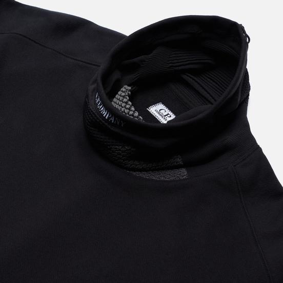 Мужская толстовка C.P. Company Roll Neck Diagonal Raised Fleece Black