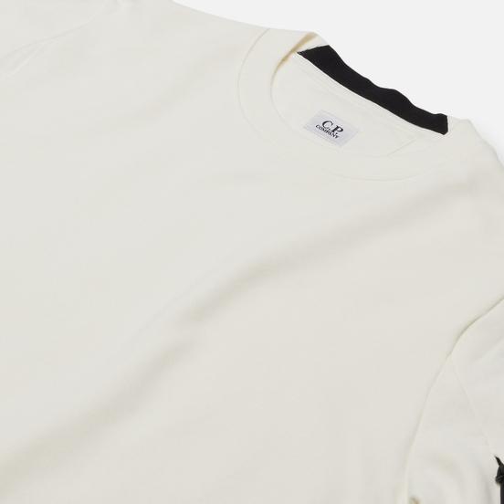 Мужская толстовка C.P. Company Lens Pocket Diagonal Raised Fleece Gauze White