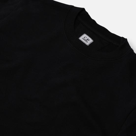 Мужская толстовка C.P. Company Lens Pocket Diagonal Raised Fleece Black