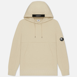 Мужская толстовка C.P. Company Pocket Lens Diagonal Raised Fleece Hoodie Oyster Grey