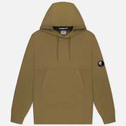 Мужская толстовка C.P. Company Pocket Lens Diagonal Raised Fleece Hoodie Martini Olive