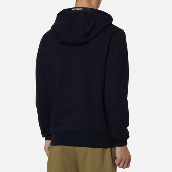 Мужская толстовка C.P. Company Pocket Lens Diagonal Raised Fleece Hoodie Total Eclipse