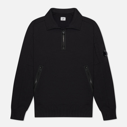 Мужская толстовка C.P. Company Lens Pocket Half-Zip Diagonal Raised Fleece Black
